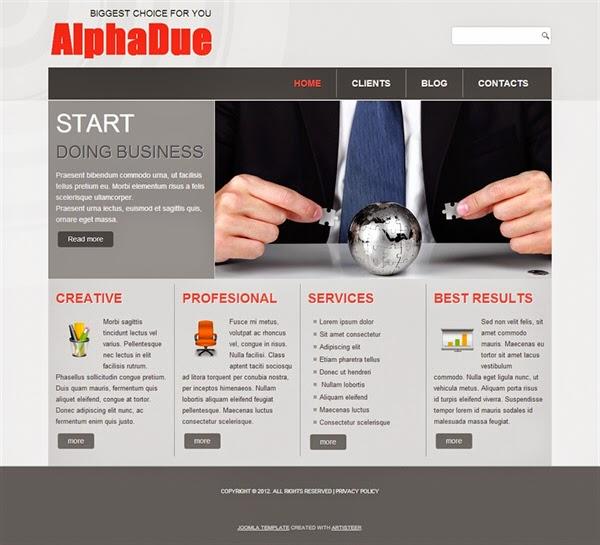 AlphaDue - Free Joomla! Template