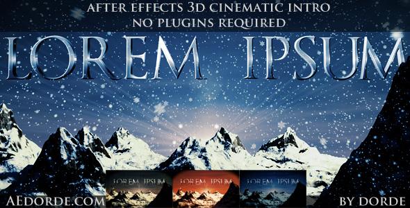 VideoHive Cinematic Opener - Lorem Ipsum