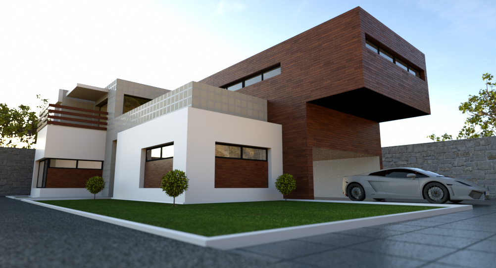 Blender architecture exterior home for Home rendering software