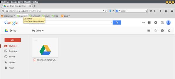 google drive-dasbor