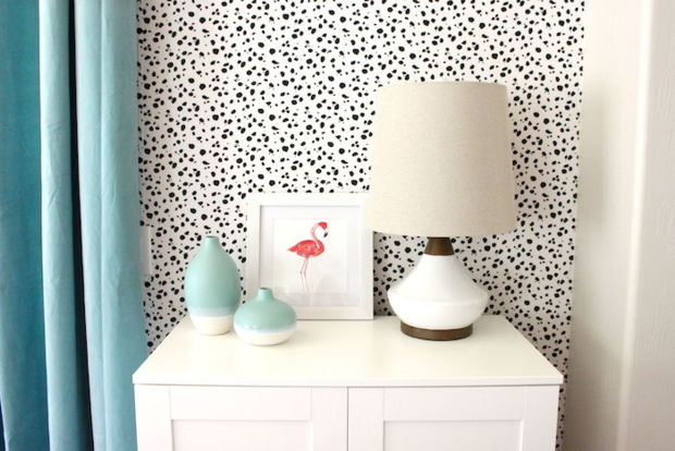 Cant Paint Or Wallpaper Because You Are In A Rental Weve Got The Solution Add Fabric Your Favorite Print To Wall Like Few Easy