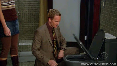 Barney toilet seat How I Met Your Mother