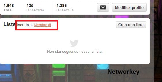 Membro Twitter Lista