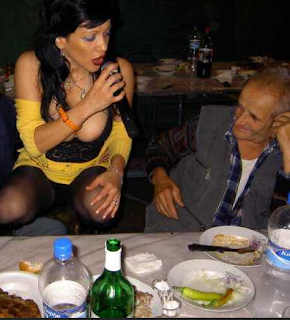 funniest picture: grandfather with songstress