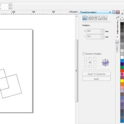 Cara Membuat Background Rectangel (kotak) di Corel Draw