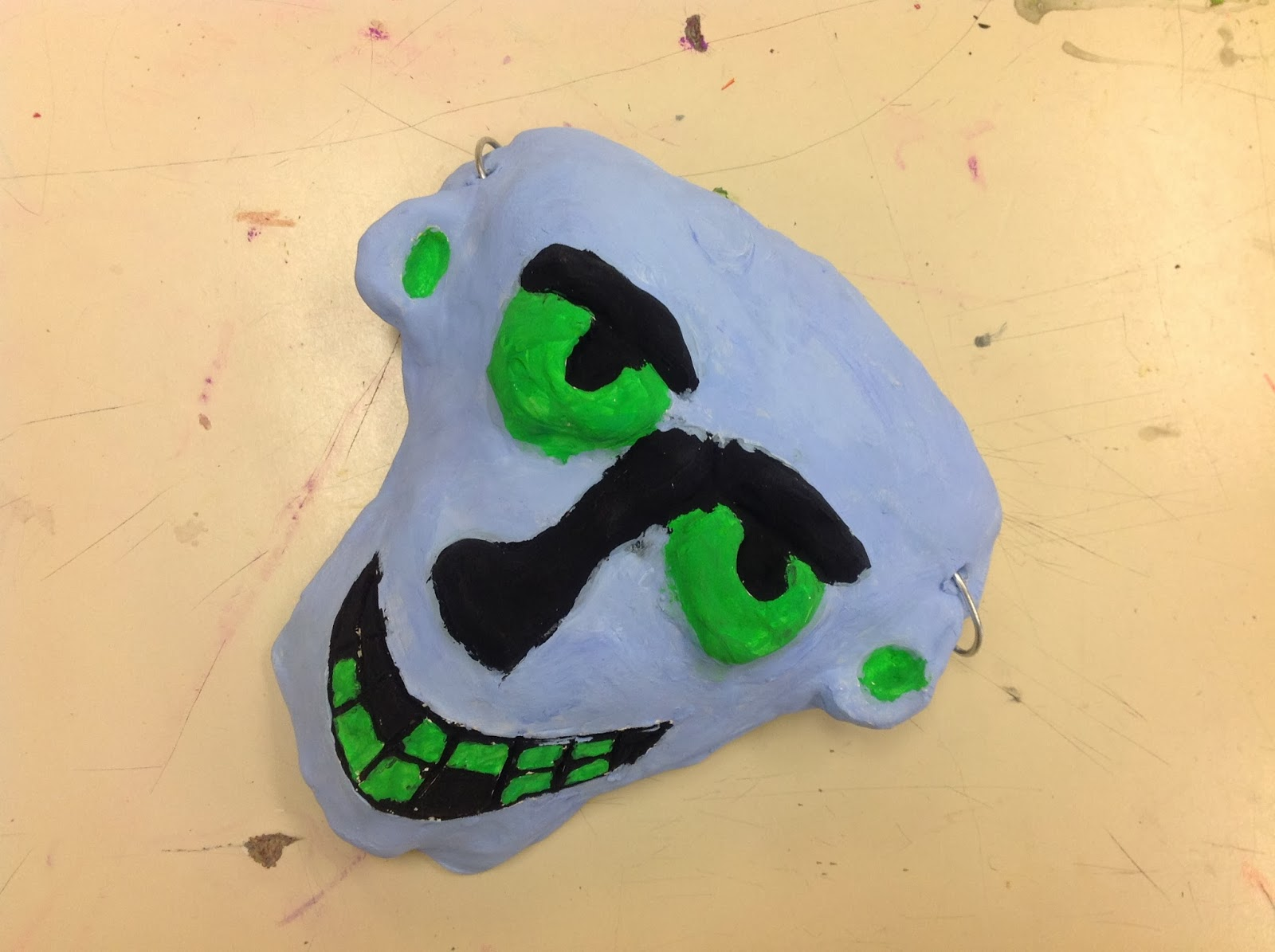 Sixth Grade Clay Slab Mask Art Lesson