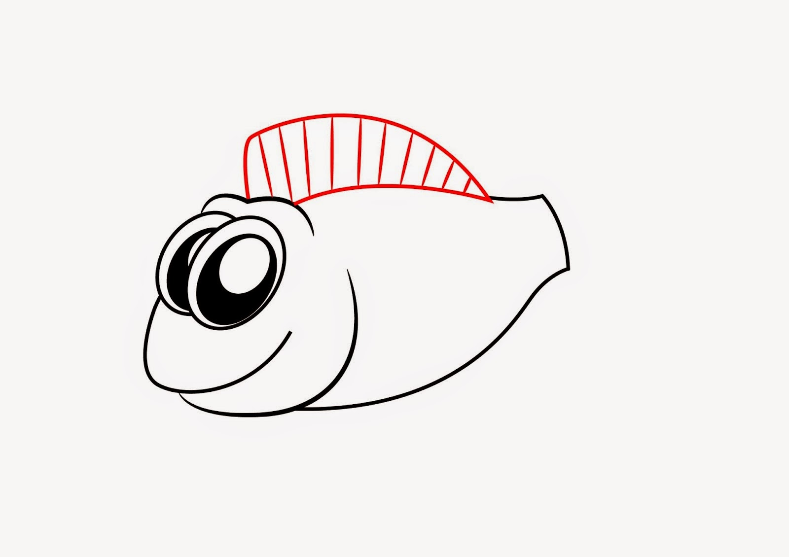 Gallery for kissing fish clipart black for Cartoon fish drawing