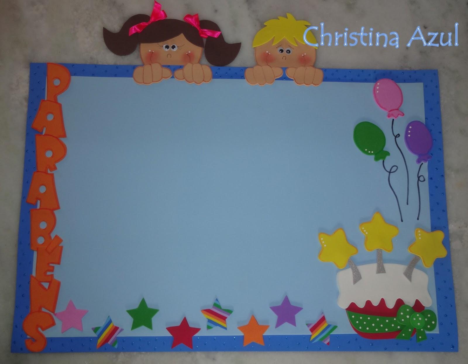 christina azul mural de aniversariantes em eva crian as