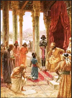 Daniel interprets Nebuchadnezzar's dream by William Brassey Hole