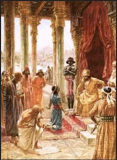Daniel interprets Nebuchadnezzar's dream by William Brassey Hole