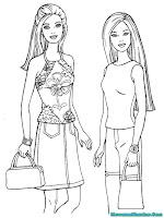 Download Gambar Mewarnai Barbie
