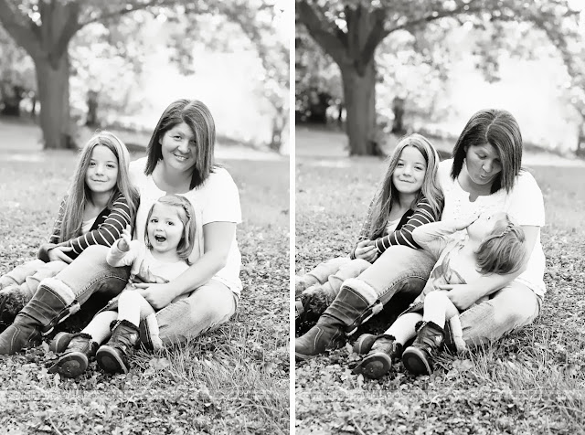 black and white photos of mom and daughters - clinton indiana photographer