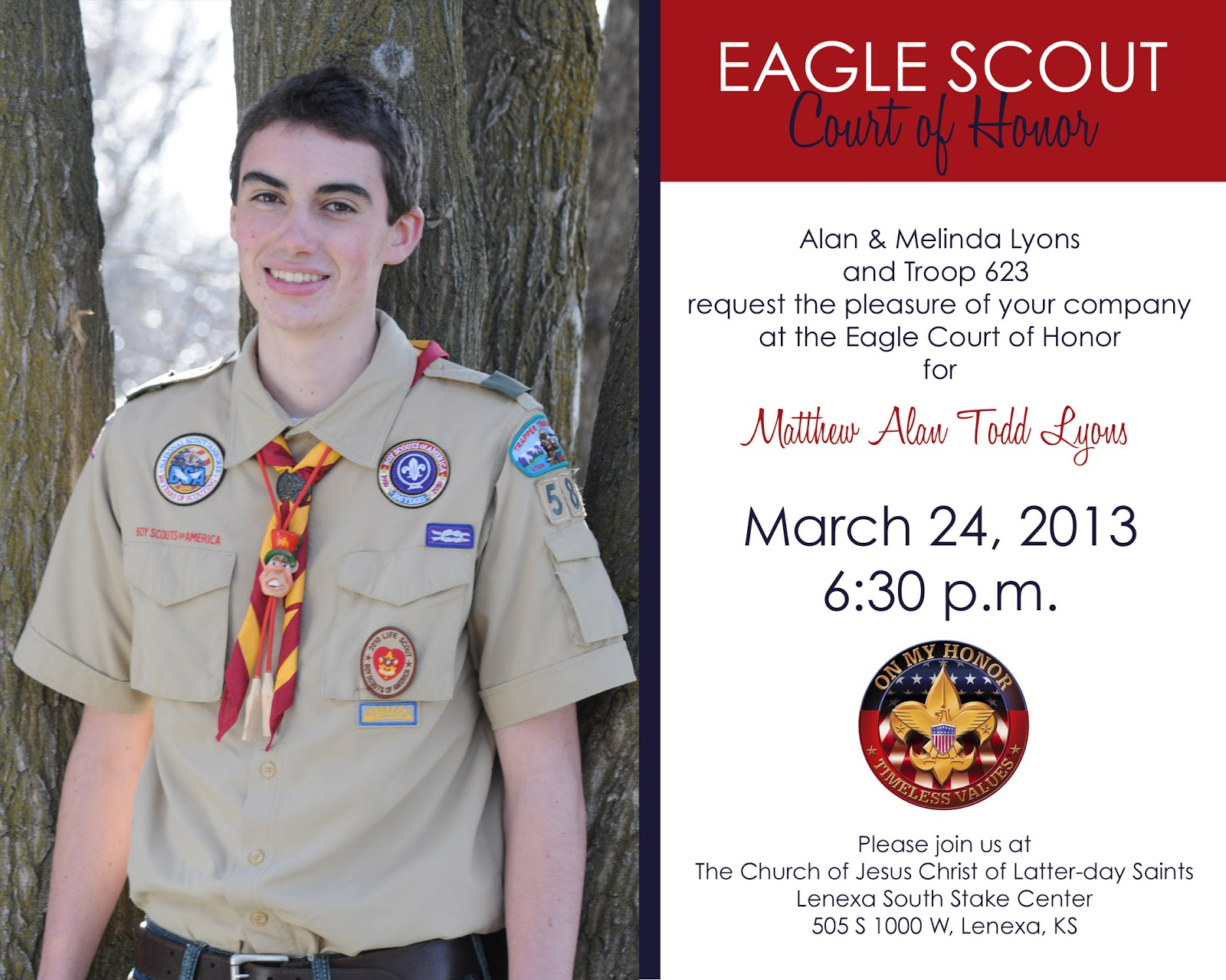 Announcements to Ponder Eagle Scout Matthew