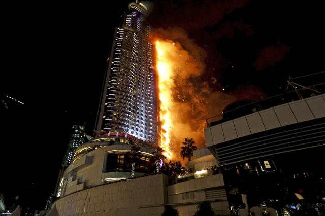 12 Hours Later, The Dubai Skyscraper Is Still On Fire, Yet It Has Not Collapsed, And It Won't