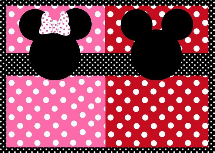 La Super Mamy: Semana de cumples: invitaciones gemelos Mickey y Minnie