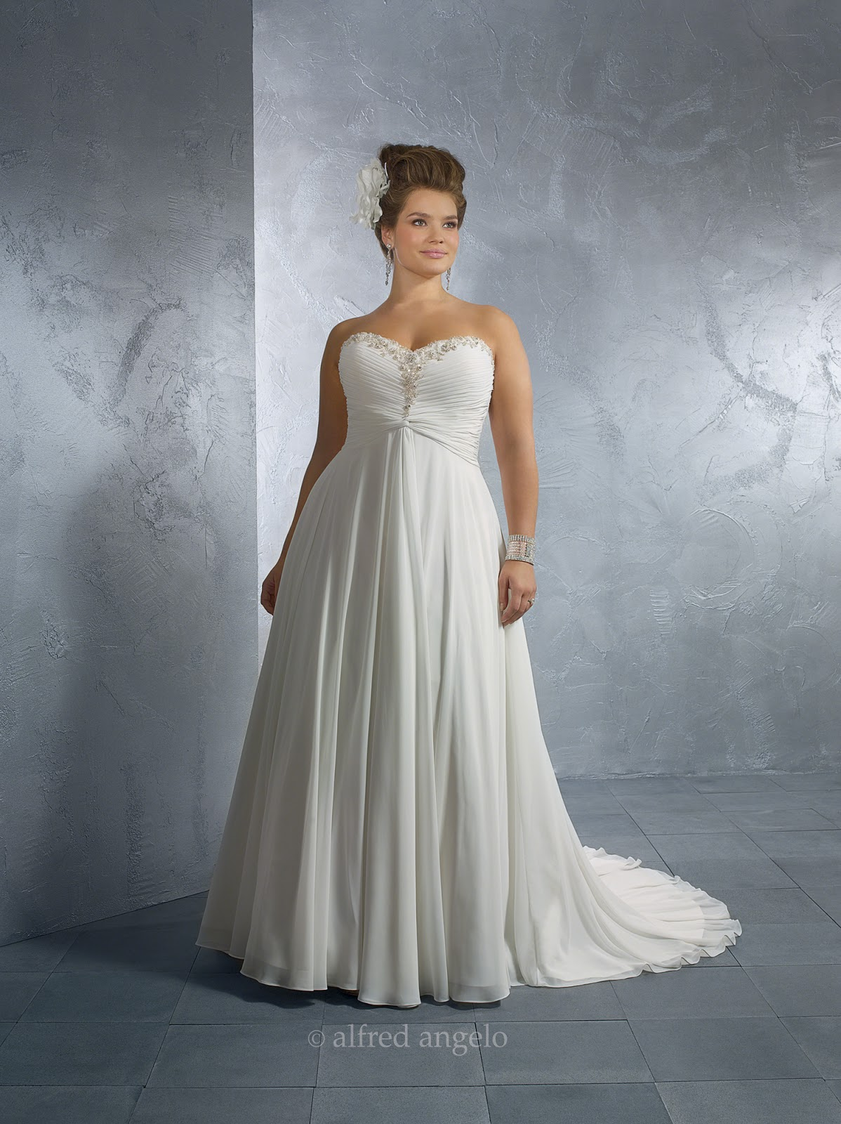 Cheap wedding dresses plus size for Wedding dresses for larger figures