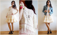 Outfit How to style a Petticoat - Teil 6: Crochet Top & Jeans Jacket