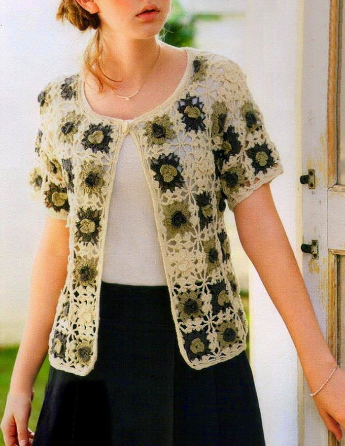 Crochet Patterns Sweater : Crochet Pattern Of Beautiful Sweater
