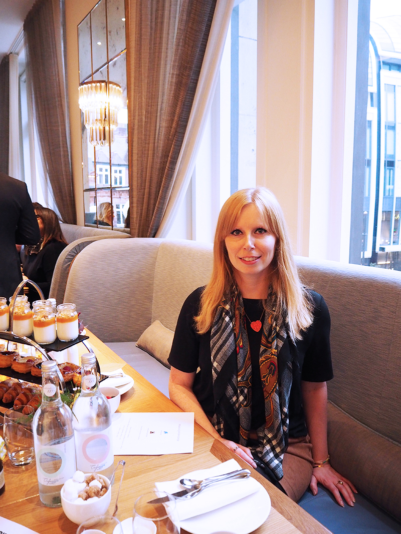 Kat from Tales of a Pale Face having breakfast at Selfridges