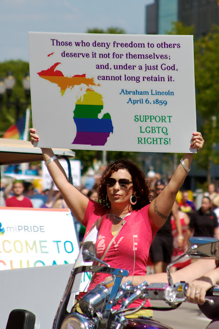 Michigan Pride March to the Capitol, Lansing. by Tammy Sue Allen.