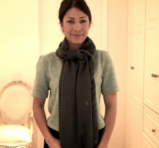 Butterfly Knot Scarf Tutorial 2 Ways The Daily Connoisseur