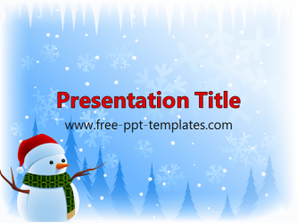 snowman ppt template  free powerpoint templates, Powerpoint