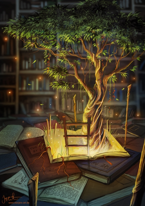 08-The-Librarian-Retreat-Jeremiah-Morelli-Fantasy-Digital-Art-from-a-Middle-School-Teacher-www-designstack-co