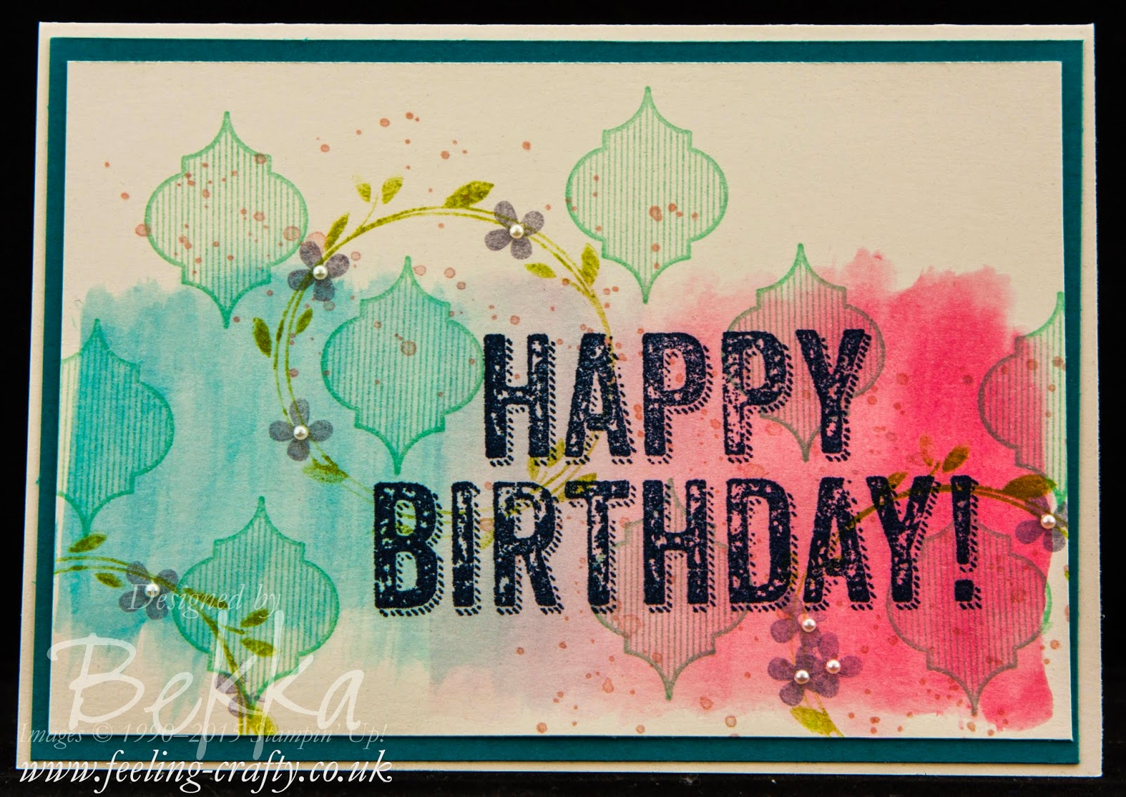Birthday Card Using Lots of Stamps from Stampin' Up! UK - you can get them here