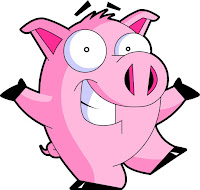 cartoon pig cool