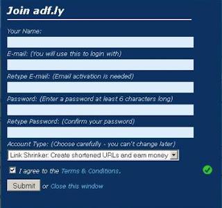 Cara daftar di adfly