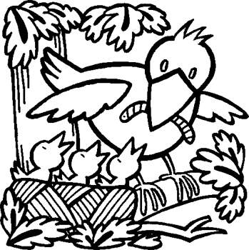 spring birds coloring pages - fichas de ingl s para ni os spring coloring pages