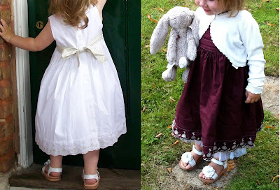 Girls dress dyed before and after