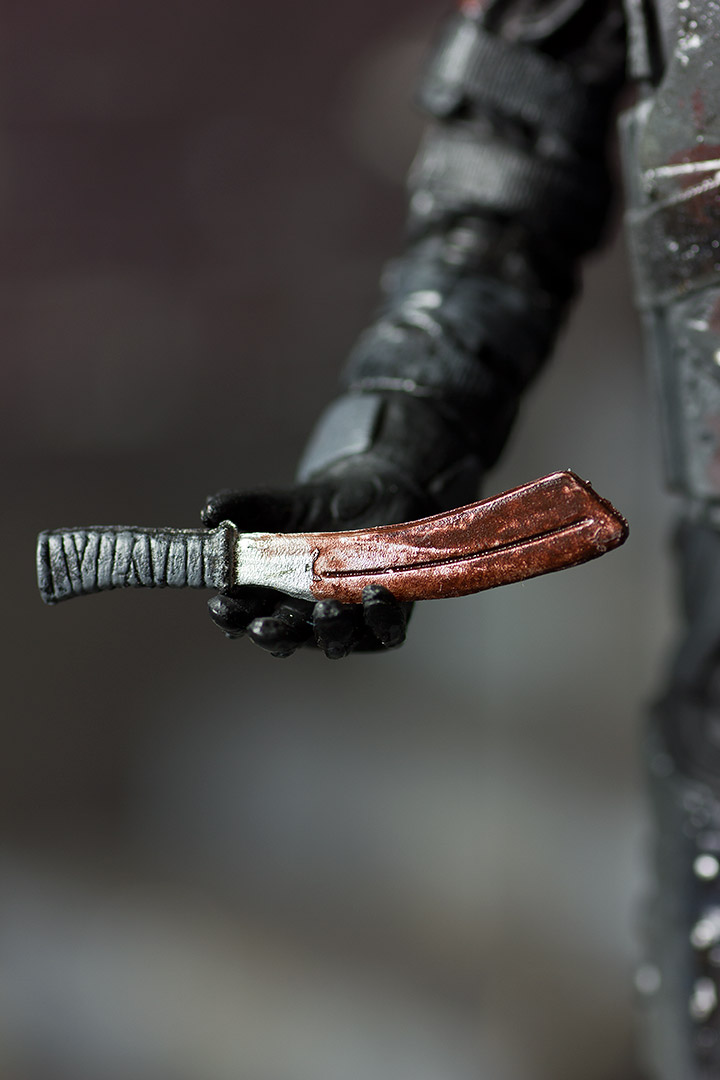 Riot Gear Zombie Action Figure Knife