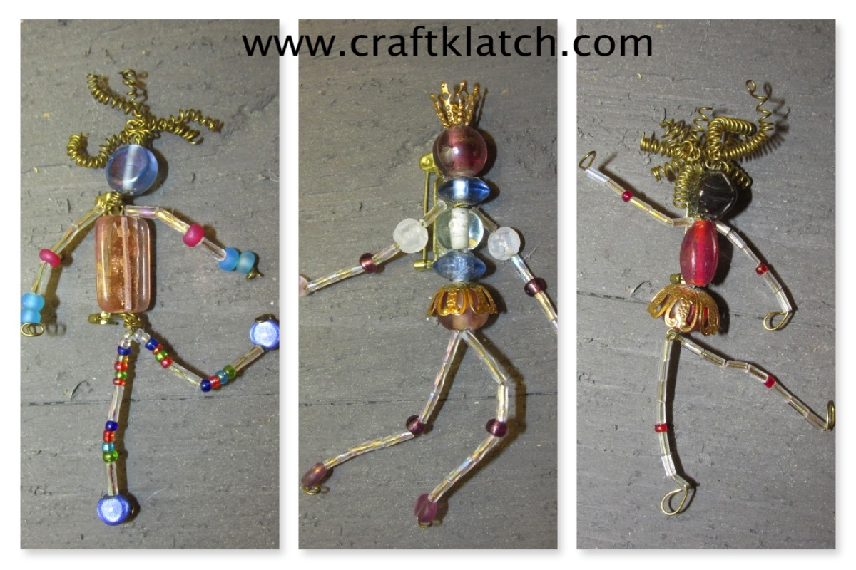 Craft klatch how to make bead people craft tutorial for Beads for craft projects