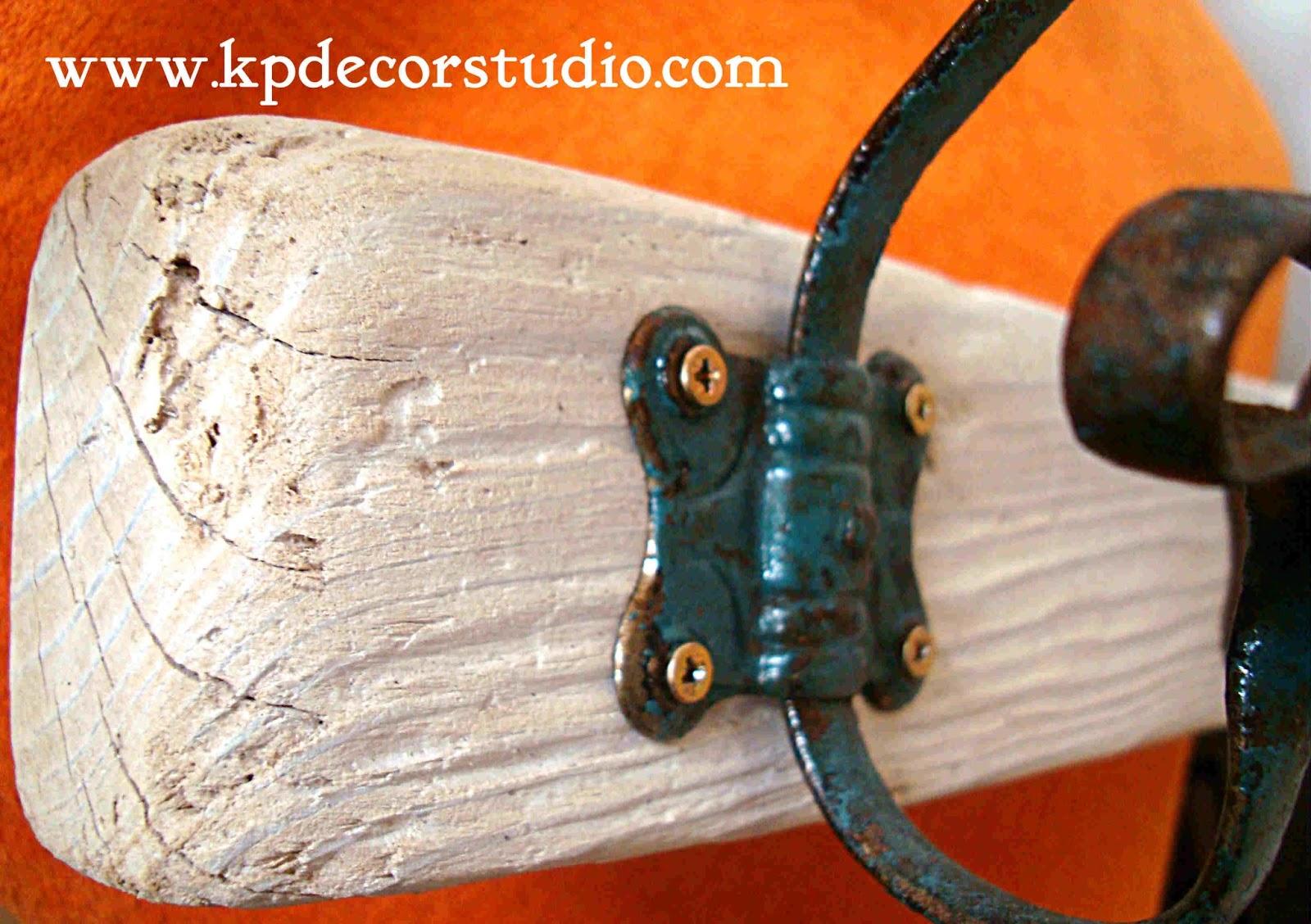 Kp tienda vintage online perchero artesanal de madera con - Percheros de pared clasicos ...