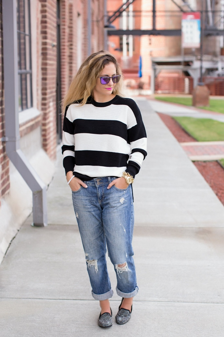 Bedazzles After Dark: Outfit Post: Fancy Boyfriend Jeans