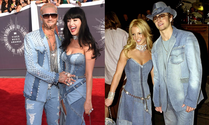 Katy Perry and Riff Raff VS Britney Spears and Justin Timberlake @ MTV 2014 VMA's | Random J Pop