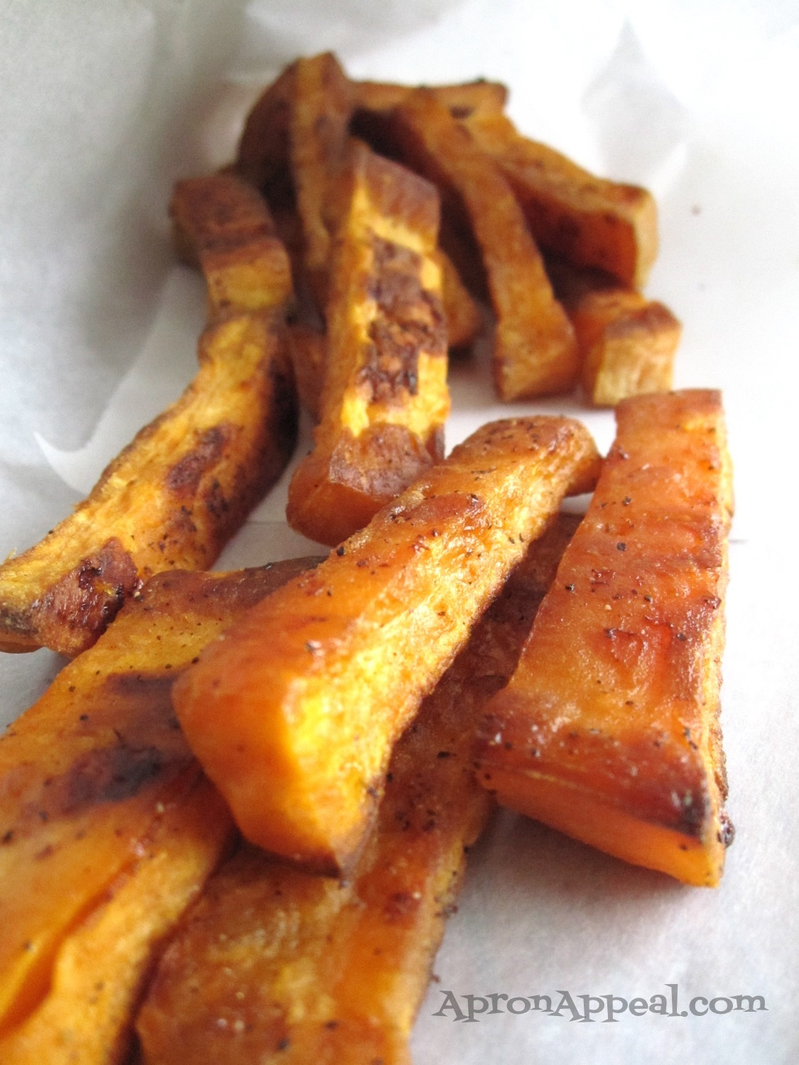 how to cut sweet potata into fries