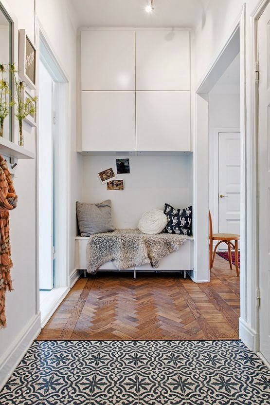 Patterned Floor Tiles In A Hallway Norse White Design Blog