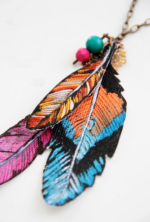 Craft tutorials galore at crafter holic canvas feather for Painting feathers on canvas