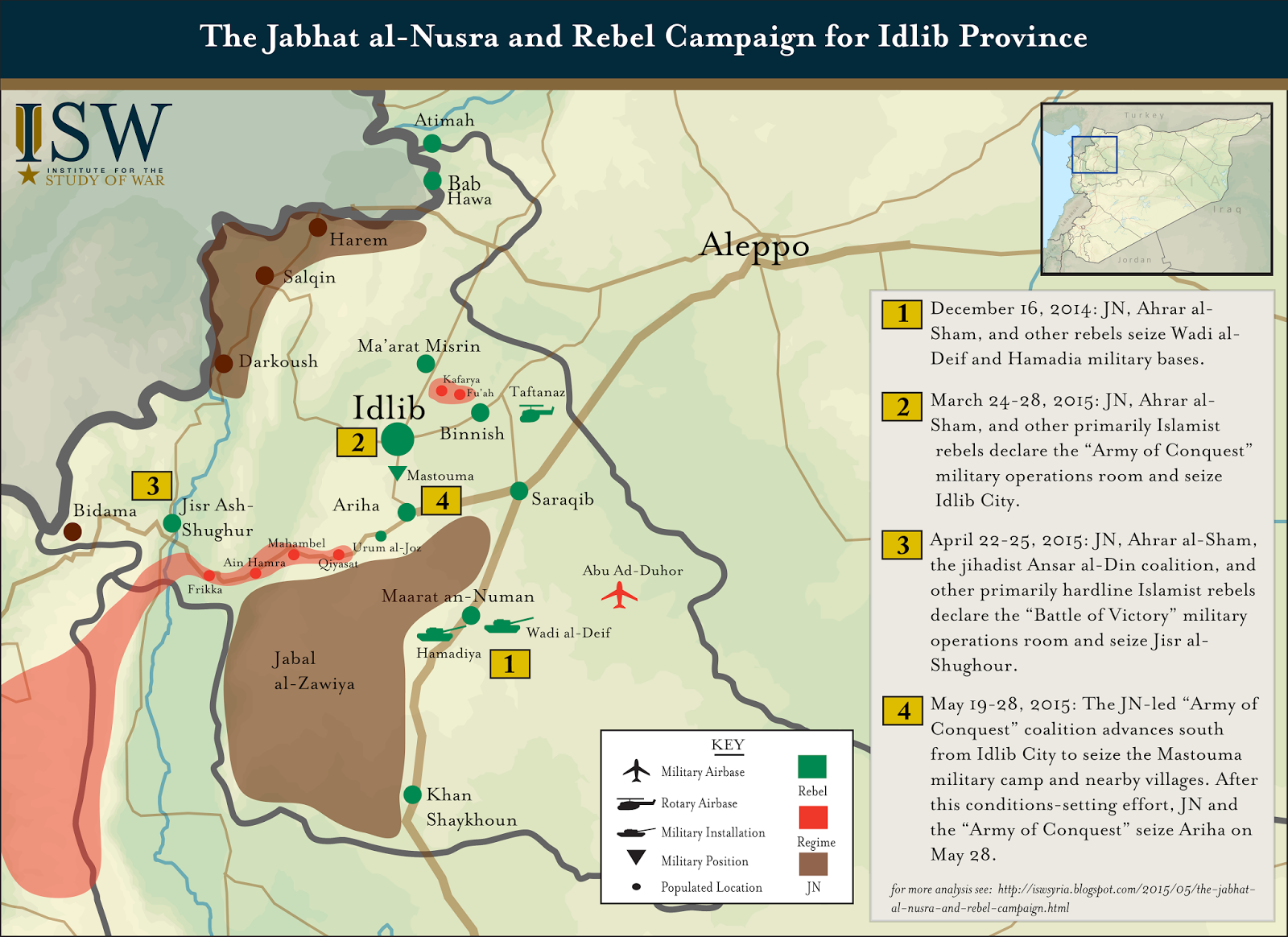 ISW Blog The Jabhat alNusra and Rebel Campaign for Idlib Province