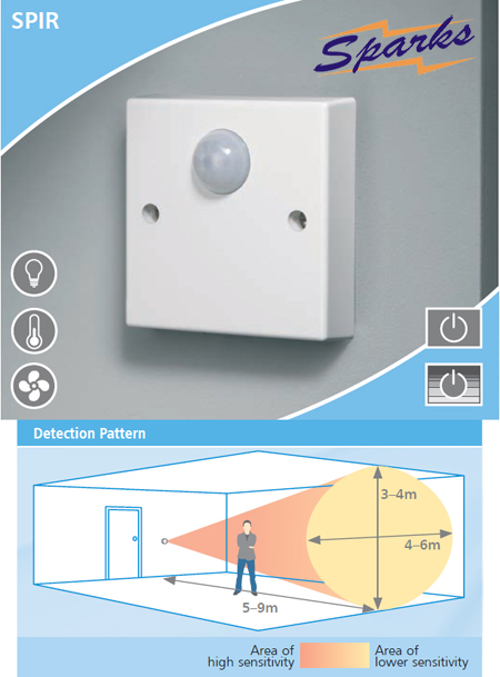 CP Electronics SPIR Time Lag Switch - PIR occupancy switch