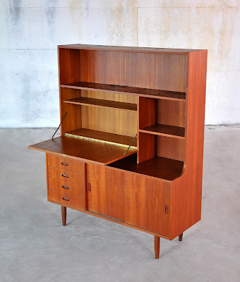 Selectmid century modern design finds danish modern bookcase secretary desk - Modern secretary desk with hutch ...