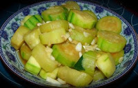 Chinese vegetarian salad with courgette
