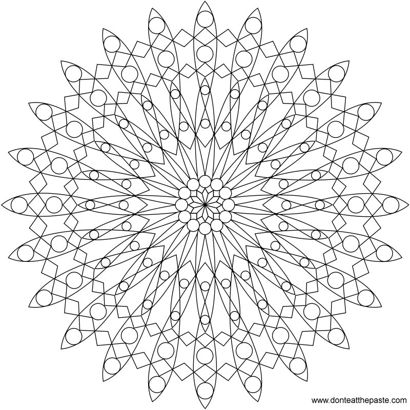 A mandala to color- available in both JPG and transparent PNG format