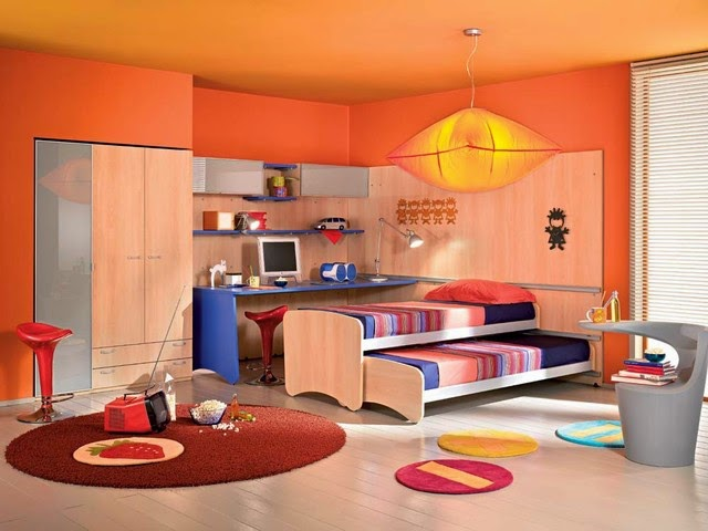 contemporary kids furniture idea can be completed with many creative kind of decoration step. Do not forget to keep the comfort atmosphere as the priority for the kids.
