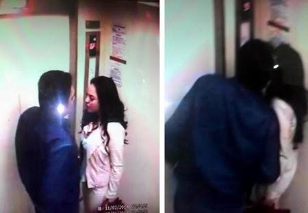 Foto Farhat Abbas Cium Regina Di Dalam Lift Terbesar