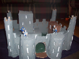 Completed paper mache castle!
