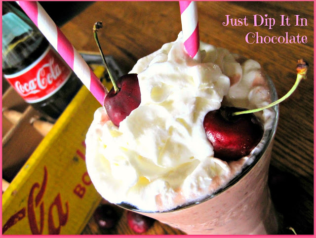 Cherry Cola Smoothie Recipe, want a different and refreshing way to enjoy your fresh picked cherries, give this smoothie a try! A bit of cola and ice cream...so good!