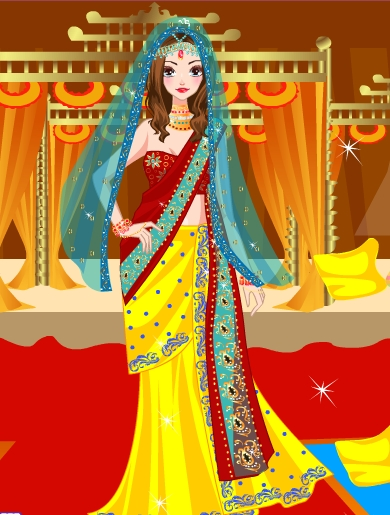 Indian Saree Dress Up